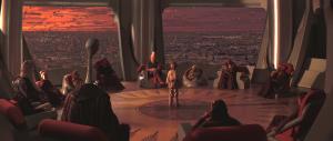 Le conseil des jedis. La plus haute institution de l'ordre jedi. Composé de 12 jedis dont maitre Yoda fait partie.