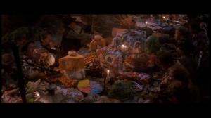 Pas de nourriture? Pas de problème pour les enfants perdus. Il suffit de se servir de son imagination. Un passage où la mise en scène est étonnante.