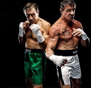 Le face à face quelque peu décevant entre Stallone et De Niro dans Match Retour.