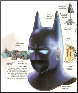 intérieur masque batman