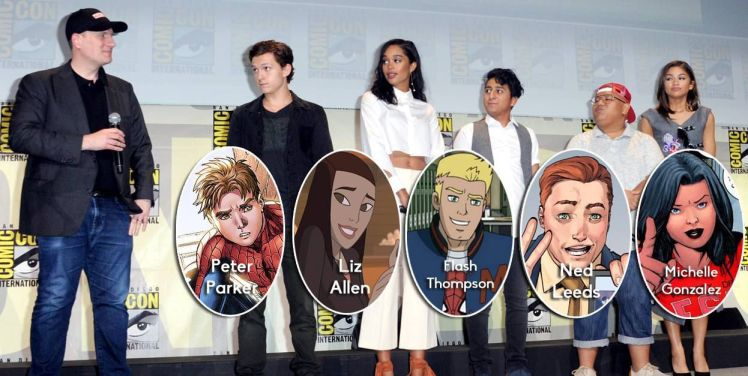 cast spiderman homecoming personnages