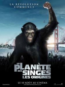 la planete des singes les origines affiche