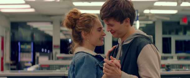 romance lily james ansel elgort baby driver