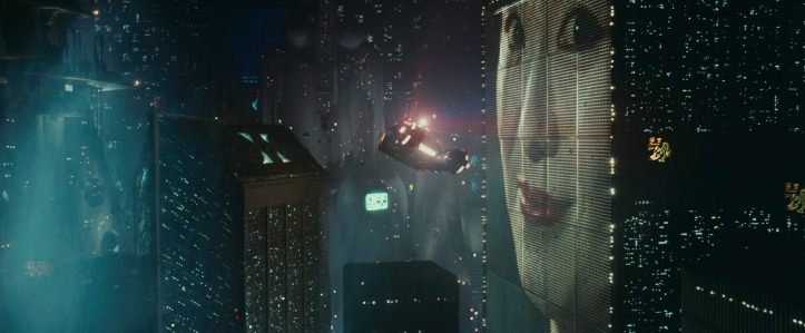 blade runner engin volant publicités los angeles neons