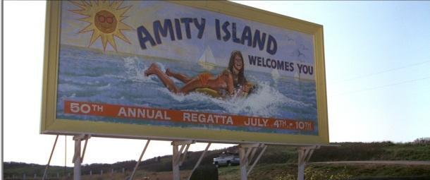 les dents de la mer amity island pancarte jaws