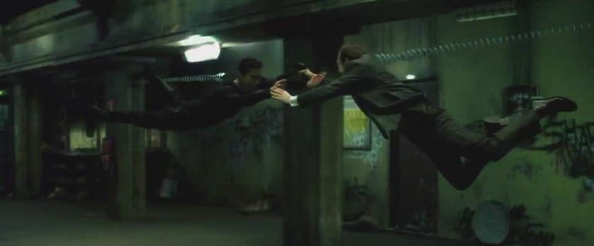 matrix neo agent smith fight metro