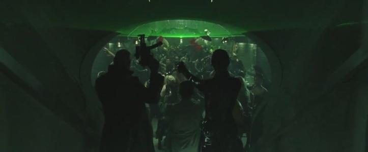 matrix revolutions morpheus trinity seraphin discotheque