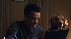 vous avez un message film tom hanks ordinateur chien golden retriever