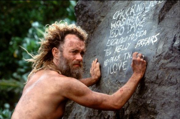 seul-au-monde tom hanks chuck noland barbe cheveux longs