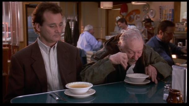 un jour sans fin phil clochard soupe