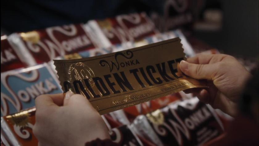 charlie et la chocolaterie ticket d or