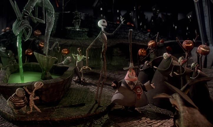 jack et les habitants d halloween town l etrange noel de mr jack tim burton