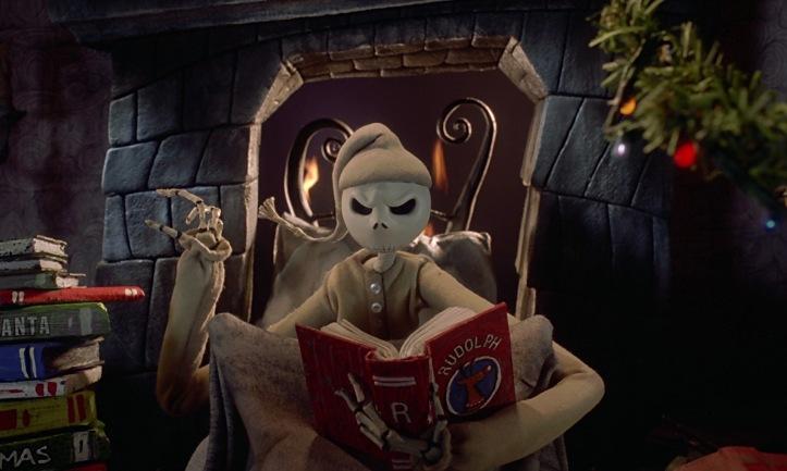 jack lit des livres sur noel l etrange noel de mr jack tim burton