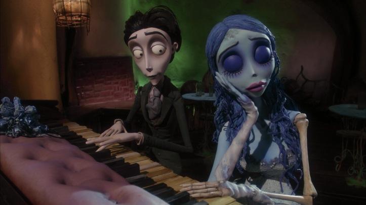 noces funebres victor joue du piano avec emilie
