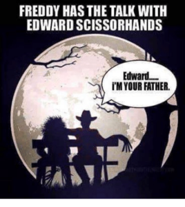 edward scissorhands freddy krueger