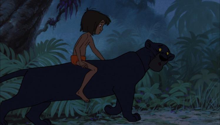 le livre de la jungle bagheera conduit mowgli au village des hommes