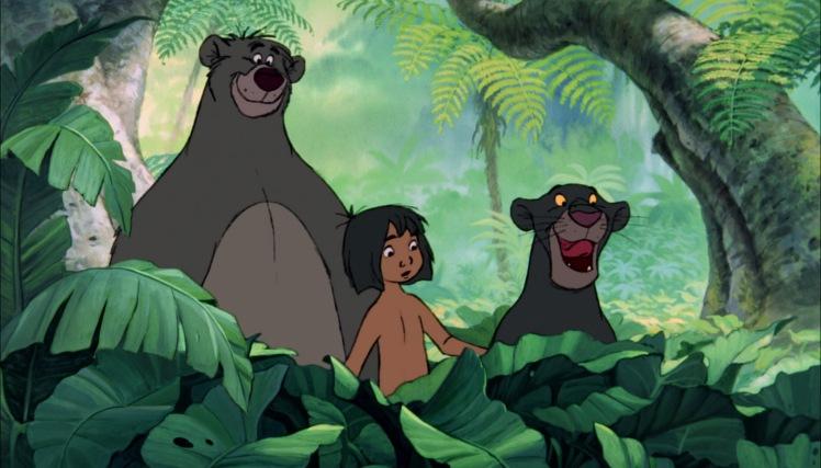 le livre de la jungle mowgli bagheera et baloo