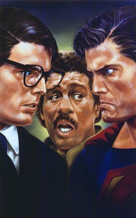 clark kent vs superman sous l'air médusé de richard pryor