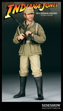 sideshow figurine indiana jones en tenue de soldat allemand