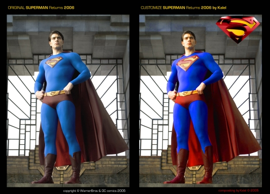 Superman-returns couleurs costume
