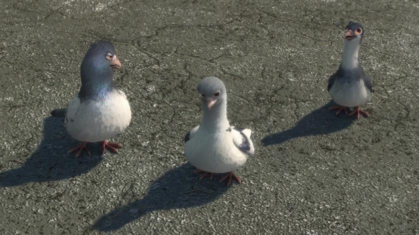 volt disney trio de pigeon