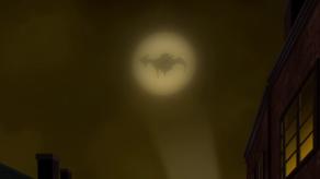 batman gotham by gaslight le batsignal style victorien