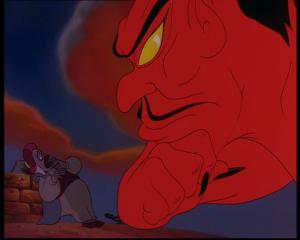 le retour de jafar abis mal terrifié devant jafar