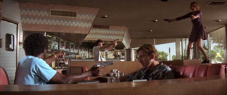 Pulp-Fiction ringo et yolanda braquant un coffee shop