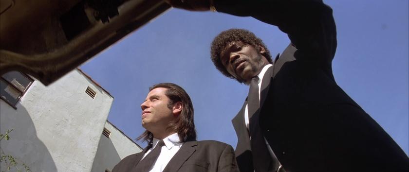 Pulp-Fiction vincent et jules vue du coffre de leur voiture