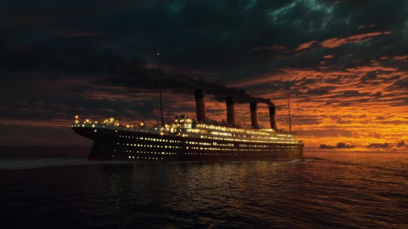 Titanic la nuit tombe
