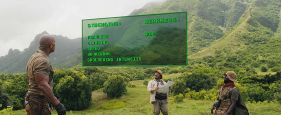 jumanji bienvenue dans la jungle menu d'aptitudes