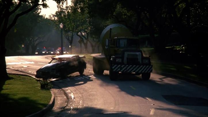 le flic de beverly hills 2 poursuite en betoneuse