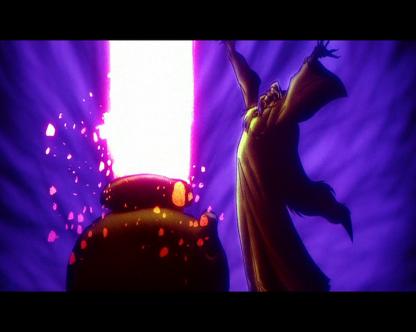 taram et le chaudron magique le seigneur des tenebres face au chaudron noir