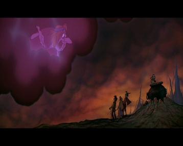 taram et le chaudron magique les sorcieres aparaissent dans un nuage démoniaque
