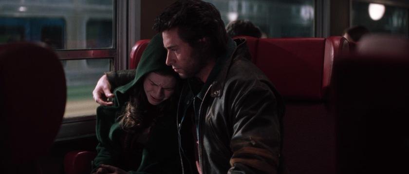x-men-movie wolverine enlace malicia dans un train