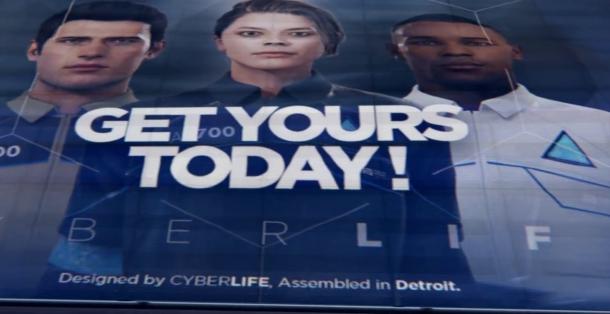 detroit become human affiche publicitaire des androides