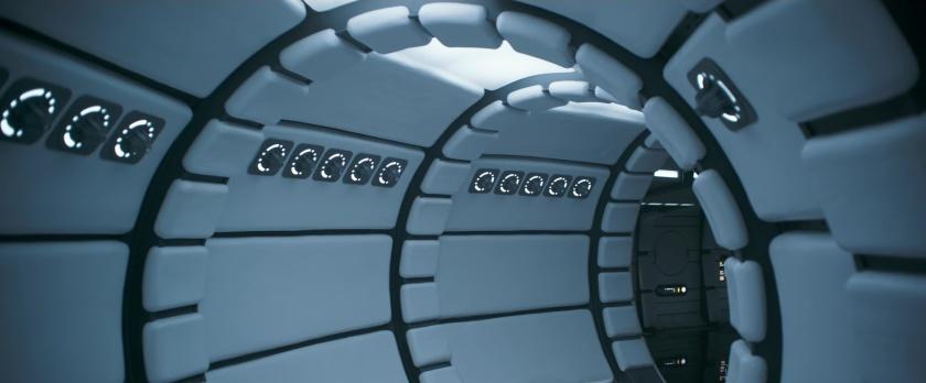 Solo-A-Star-Wars-Story faucon millenium interieur tout propre