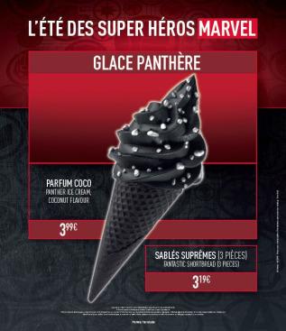 ete des super héros marvel glace black panther
