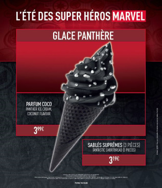 ete des super héros marvel glace black panther