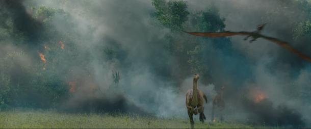 jurassic world fallen kingdom dinosaures tentant de fuir la isla nublar