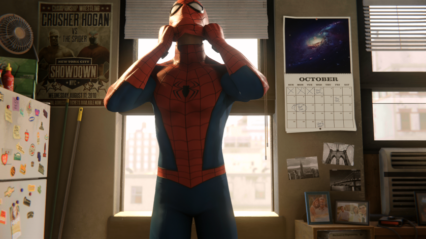 marvel spiderman ps4 debut enfilage de costume