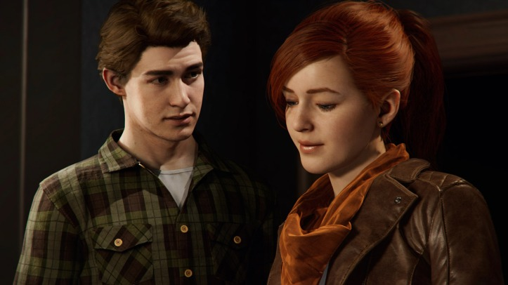 marvel spiderman ps4 peter parker et marie jane watson