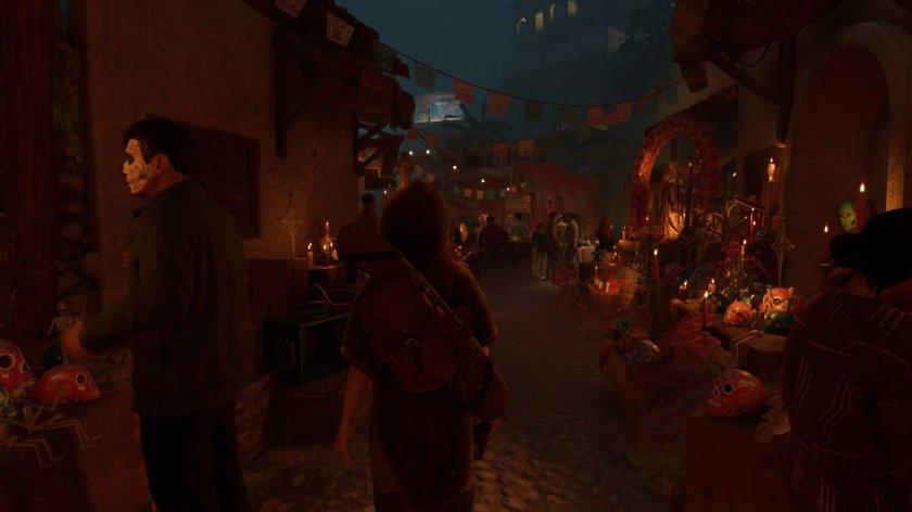 shadow of the tomb raider lara au mexique pendant dia de los muertos