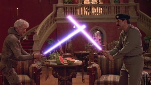 hot shots 2 le president benson contre saddam hussein dans un duel au sabre laser