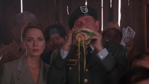 hot shots richard crenna et son sandwich au porc fait maison