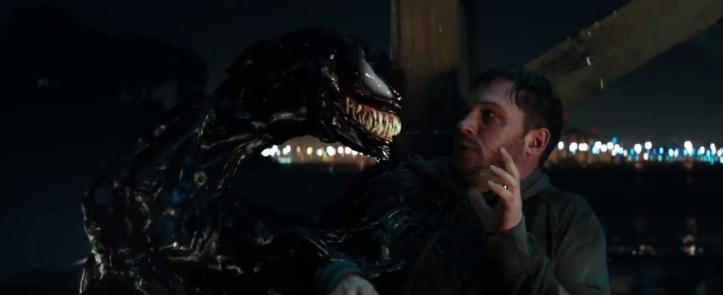 venom eddie face au symbiote