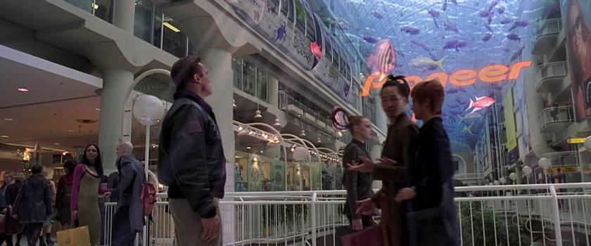 a l'aube du sixieme jour hologramme d'aquarium gigantesque dans un centre commercial