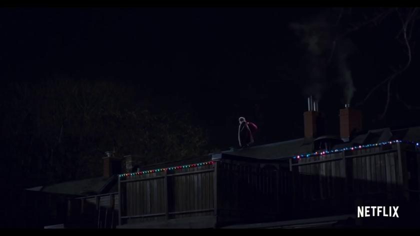 Les chroniques de noel le pere noel sur un toit