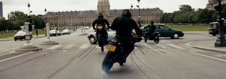rush hour 3 course poursuite à motos dans paris