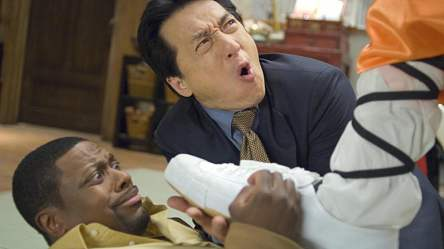 rush hour 3 lee et carter contre un eleve de kung fu geant